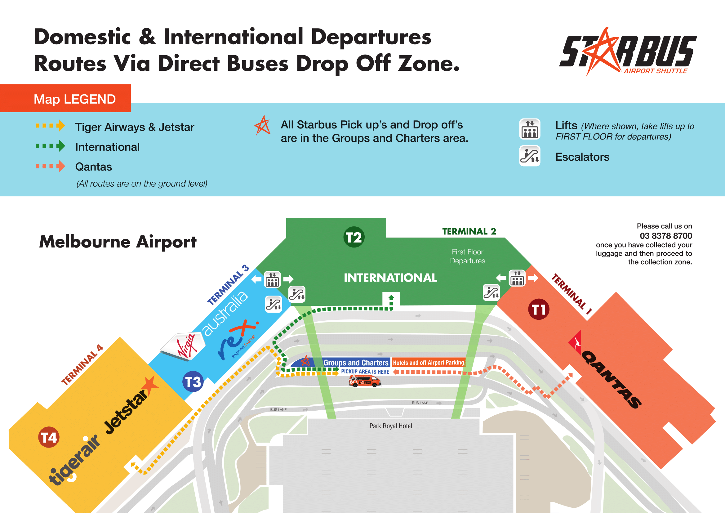 Melbourne Airport Food Court Map